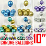 "10 Plain, Pearl Metallic Latex Balloons 10"" Helium Wedding Party Baloons Ballons"