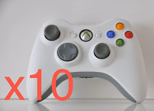 Lot of 10 Official OEM Genuine Microsoft xbox 360 Wireless Controller White