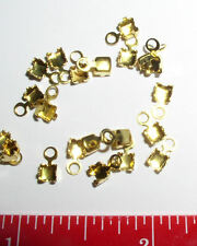 50 Pc Crimp Round Ends Fits 2.5mm 18pp Chain-Br