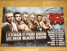 UFC 100 BUD LIGHT POSTER GEORGES ST-PIERRE BROCK LESNAR FRANK MIR DAN HENDERSON