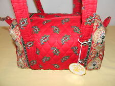 "VERA BRADLEY ""RED"" CLASSIC HANDBAG RETIRED & RARE NWOT"