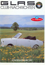 Goggomobil - Glas-Club Nachrichten Sonderheft 1987