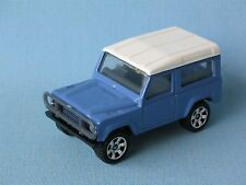 Matchbox Land Rover 90 Defender Light Blue Body Toy Model Car UB White Hubs 60mm