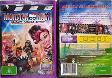 A Monster High - Frights, Camera, Action! (DVD, 2014) PAL 2,4,5