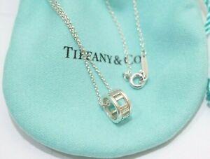 "Tiffany & Co. Sterling Silver Open Atlas Pendant Necklace 16"""