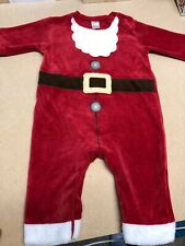 Next Baby Boy Girl Christmas Santa Outfit Suit Costume Babygrow 3-6 Months