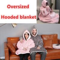 丿 丿 Comfy Snuggle Hoodie, Sweatshirt Wearable Sherpa Fleece Oversized TV Blanket