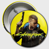 "CYBERPUNK 2077 2.25"" V Button Collector's Button Unofficial NEW!! / PS4 PC Xbox"