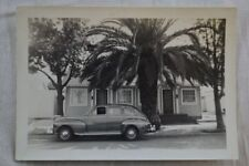 Vintage Car Photo 1946 1947 1948 Mercury at House w/ Palm Trees 837