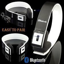 New Stereo Bluetooth Wireless Headset / Headphones With Call Mic / Microphone QW