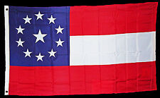 American Civil War Southern 11 Star 1st National Stars & Bars Flag