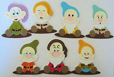 Seven Dwarfs Snow White  Paper Die Cut Scrapbook Embellishments