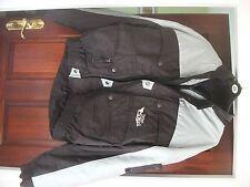 Chaqueta de moto impermeable proteger Almohadillas Gris/Negro Nuevo Talla Xl
