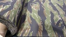 "Woodlands Vintage Tiger Stripe Ripstop 6.25 oz NY/CO Fabric 64""W Fabric Camo"