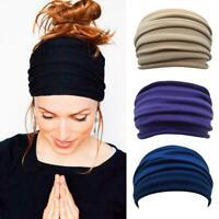 Women Wide Sports Yoga Headband Stretch Hairband Elastic Lady Hair Band Turban