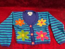 Vintage Heartworks Girls Knit Sweater w/Skirt Size 4 Purple with Blue