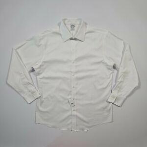 Brooks Brothers Men's White Non-Iron Long Sleeves Regular Fit Shirt 00161039