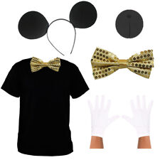 ADULTS GOLD CUTE MISS MOUSE SET LADIES TV ANIMAL FAMOUS COSTUME FANCY DRESS