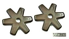 """Flat Six Point Spur Rowels1-1/4"""" Antique Brown Sold in Pairs New Free Ship"""