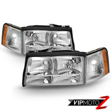 1997-1999 Cadillac Deville Concours [Factory Style] Headlamps Light Assembly SET