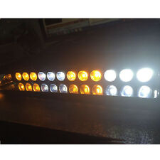 12LED AMBER WHITE FLASHING STROBE LAMP BAR CAR DASH EMERGENCY WARNING LIGHT 12V