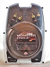 Monster Cable Prolink Studiolink Interconnect Audio Cable RCA Pair 4m/13.12ft