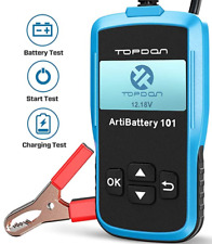 Topdon AB101 100-2000 CCA Battery Tester Automotive for Cars/SUVs/Light Trucks