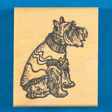 Schnauzer Dog in Sweater Rubber Stamp by The Stamp Pad Co - Cute Miniature