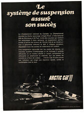 1970 ARTIC CAT Panther Snowmobile Vintage Original Print AD - Canada French