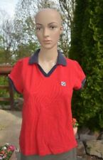 "Vtg! Genuine BMW ""Lifestyle"" Women's Small Red/Blue S/S Collared SHIRT w/ LOGO"