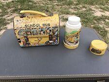 1960s Walt Disney Mikey Mouse Metal School Bus Lunchbox