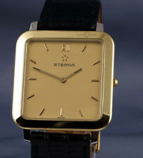 ETERNA square 18ct Gold Plated SS quartz Dress