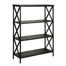 Convenience Concepts Tucson 4 Tier Bookcase, Black - 161844BL