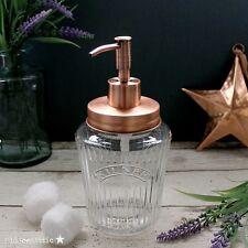 VINTAGE Kilner Mason Jar Soap Dispenser con coperchio in rame puro e POMPA IN RAME