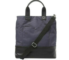 French Connection Mel Large Tote Canvas Utility Travel Bag Blue Black