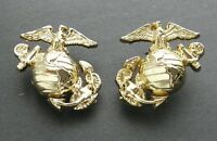 US MARINE CORPS GLOBE ANCHOR ENLISTED LAPEL PIN SET OF 2 LEFT AND RIGHT 1 INCH