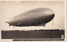 RPPC Real Photo Postcard GERMAN LZ-127 GRAF ZEPPELIN AIRSHIP Dresden Germany 6