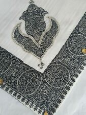 Yemeni Arab Shawl Embroidery Shemagh headscarf ladies Islamic gents sufi white