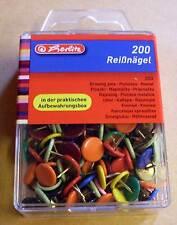 Reißzwecken Reißnägel Heftzwecken bunt farbig 200 Stück Herlitz 08770109 Neu OVP