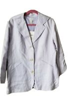 J Jill Linen Cotton Blazer Jacket Womens Size 16 Lilac Litecrocus Plus Career