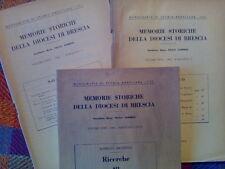 MEMORIE STORICHE DELLA DIOCESI DI BRESCIA - annata completa 1962  sotto i titoli