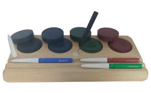 Huiliers d'horlogerie sur support bois, livré avec 4 pique-huile BERGEON - KD89