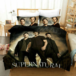 Supernatural Bedding Set Duvet Cover 3PCS Pillowcases Comforter Cover Gifts