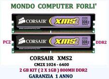 KIT 2 GB (2X1GB) DDR2 MEMORIA/RAM <CORSAIR XMS2 v.5.1> 5-5-5-12 800MHz NO ECC