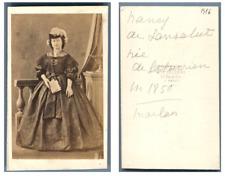 Disdéri, Madame Nancy de Lansalut née Lahnurien  CDV vintage albumen carte de vi