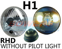 """5.75"""" 5 3/4"""" CLASSIC CAR CRYSTAL HEADLAMP HEADLIGHT HALOGEN H1 WITHOUT PILOT"""