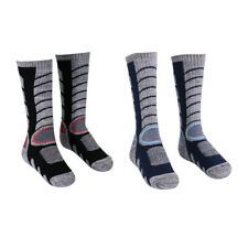 2 Pairs Compression Cotton Towel Socks Stockings Knee High for Winter Sports