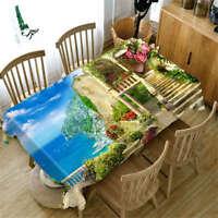 Debonaire Sea 3D Tablecloth Table cover Cloth Rectangle Wedding Party Banquet