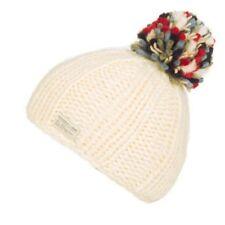 Kusan 100% Wool Bobble Beanie Hat With Multi Coloured Pom (PK1524)