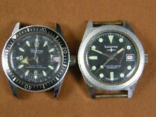 VINTAGE LUCERNE SPORTSMAN UNBREAKABLE MAINSPRING & Calendar Divers Watch Lot